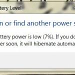 bateria baixa
