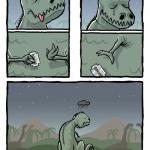 t-rex triste
