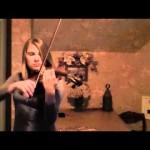 Irmãos de Fullmetal Alchemist no violino