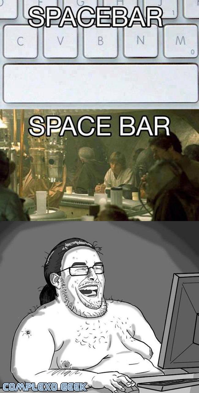 0 a space bar