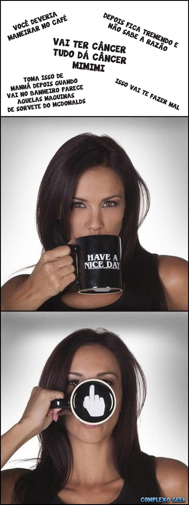 0 A maneirar no café