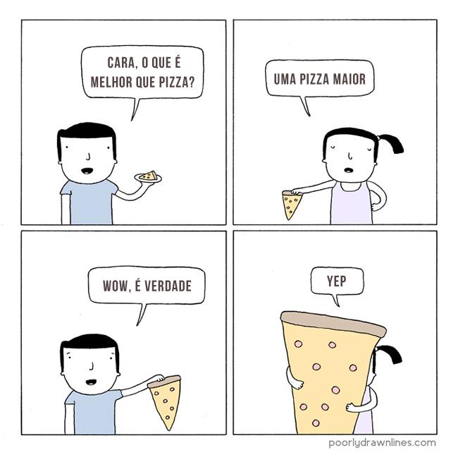 0 a  pizza grande