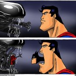 2 alien-superman
