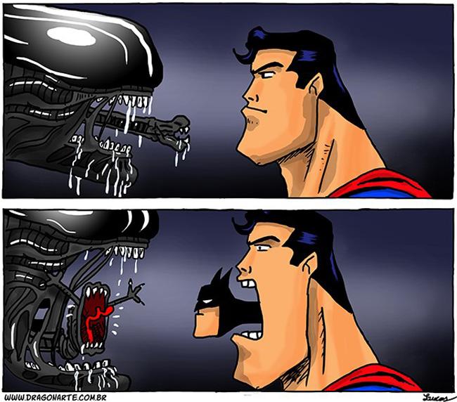 2 alien-superman