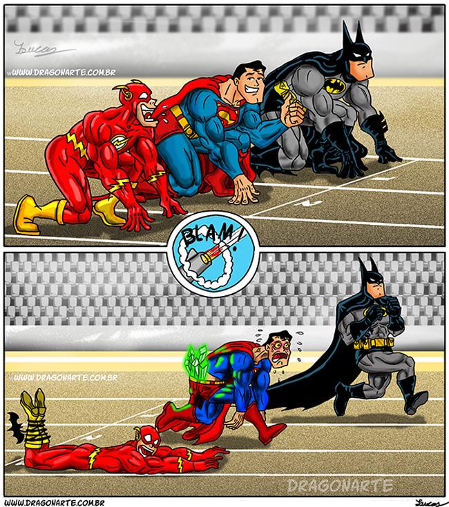 3 batman corrida