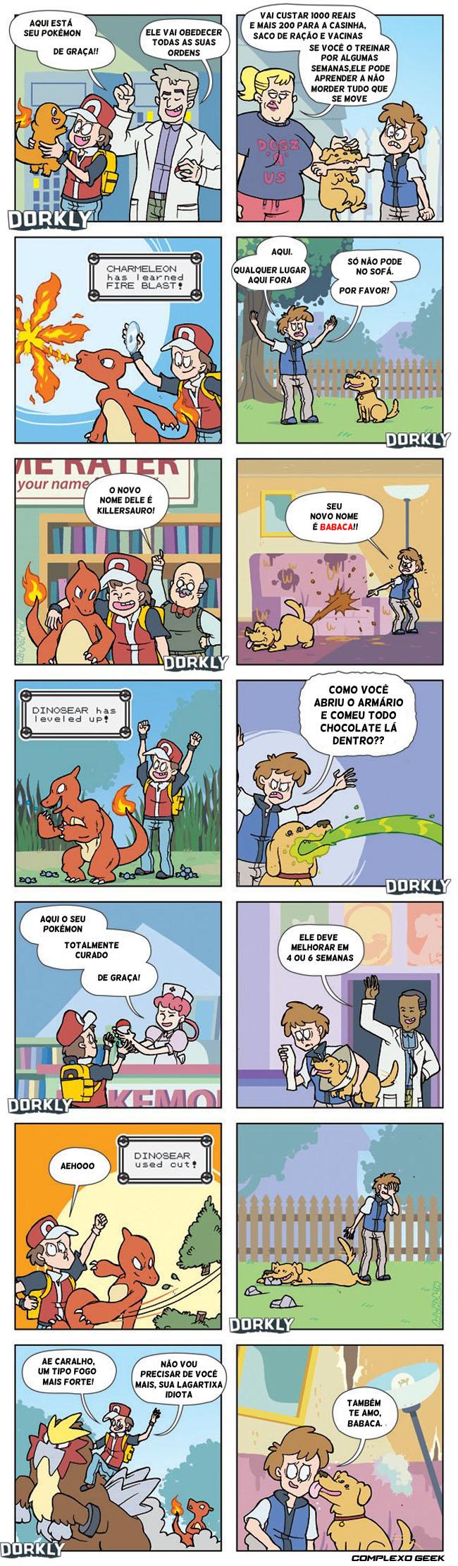 0 pokemons animais de verdade