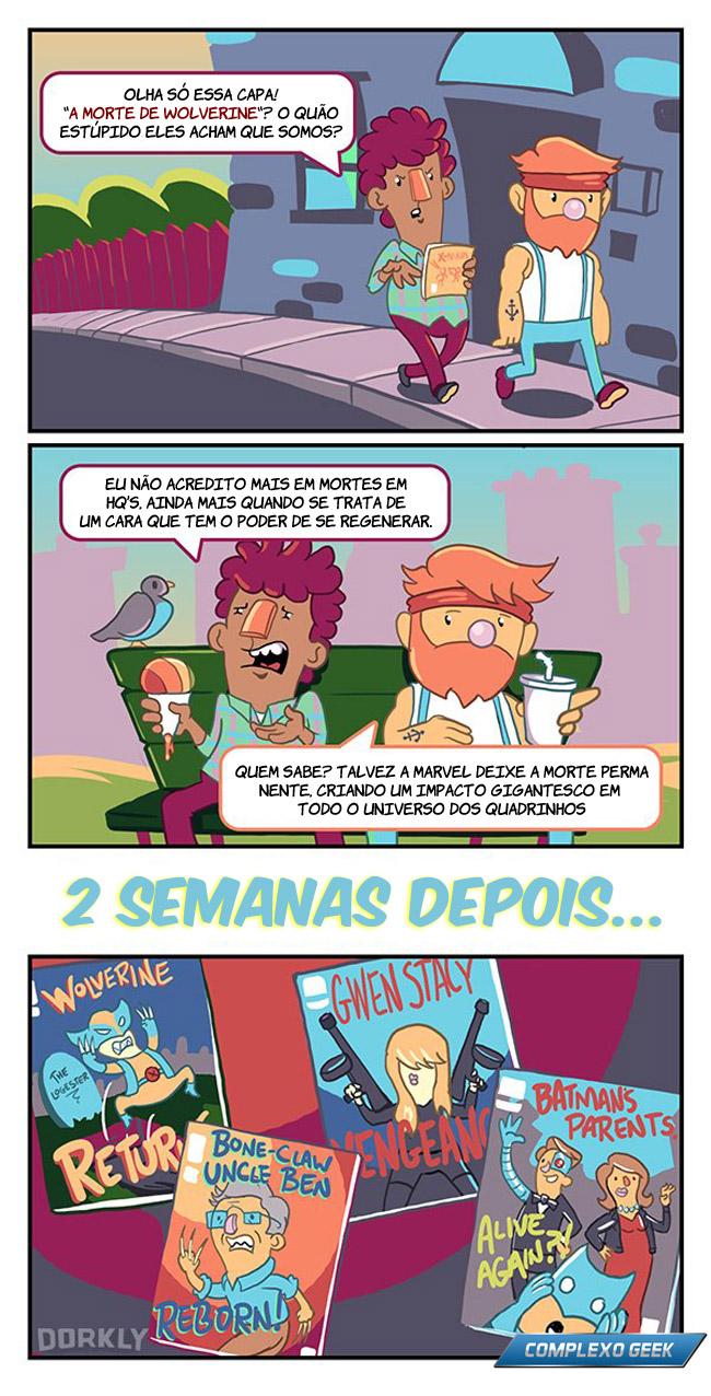 2 morte nos quadrinhos