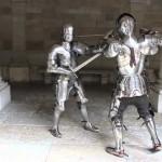 E assim era um verdadeiro combate medieval