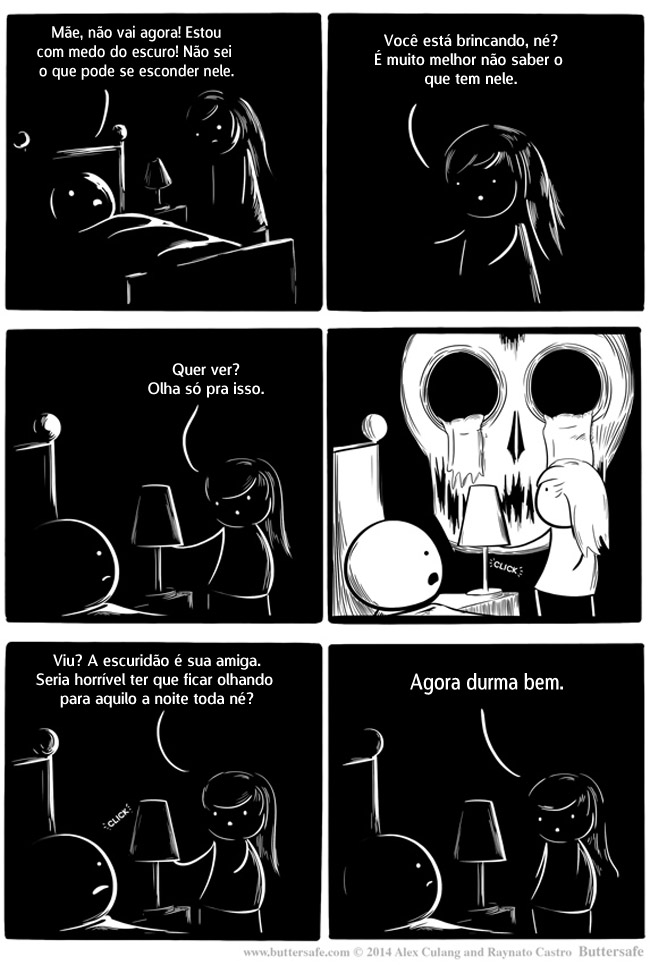 0 nao ter medo do escuro