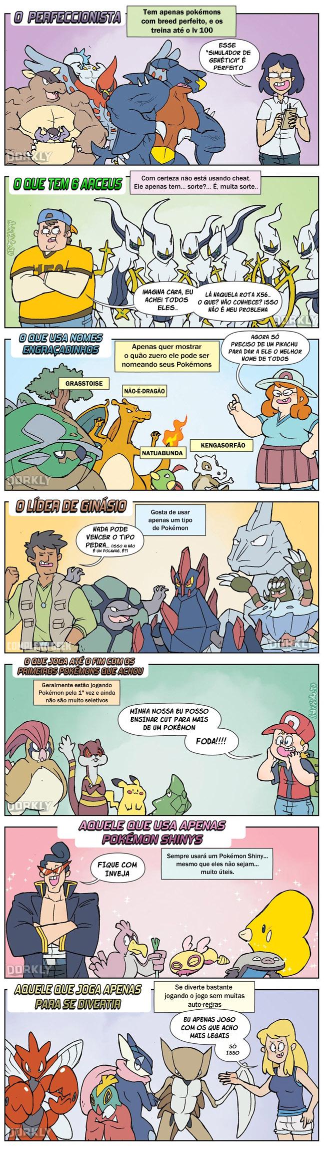 7 tipos de jogadores pokémon