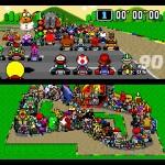 E isso é o que acontece quando 101 jogadores se juntam em uma corrida de Mario Kart